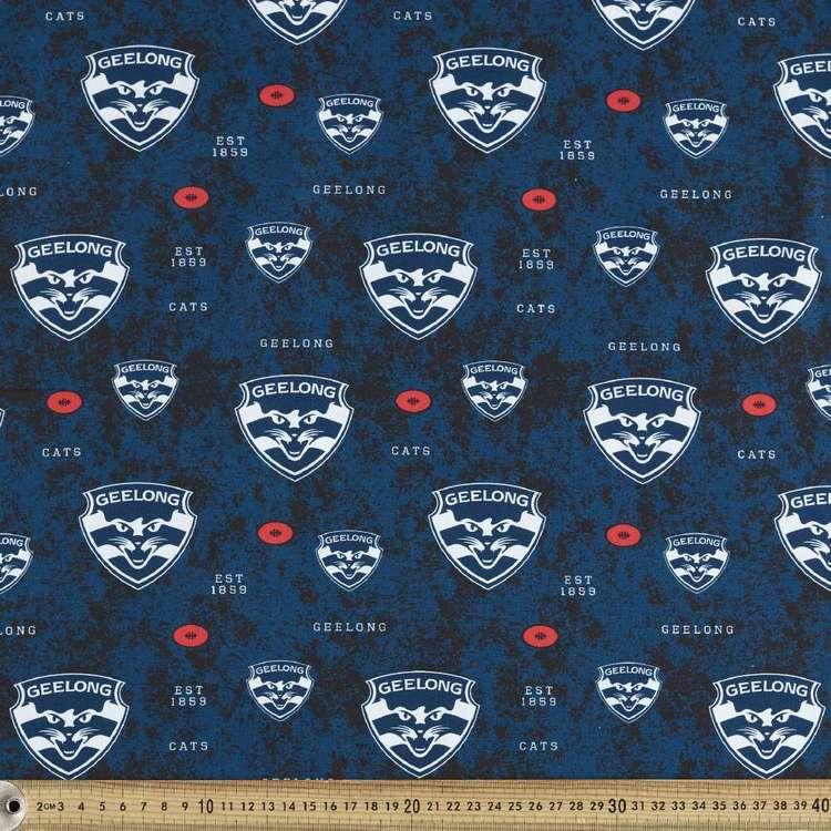 AFL Geelong Logo Homespun Fabric
