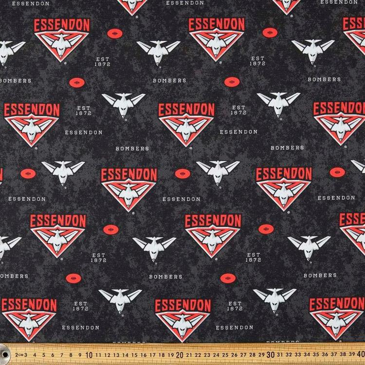 AFL Essendon Logo Homespun Fabric