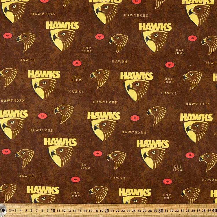 AFL Hawthorn Logo Homespun Fabric