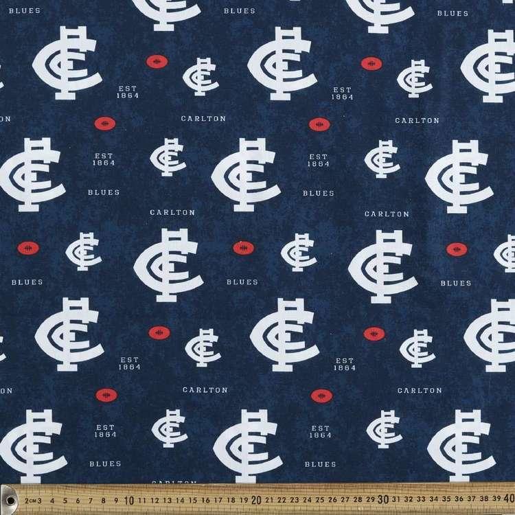 AFL Carlton Logo Homespun Fabric
