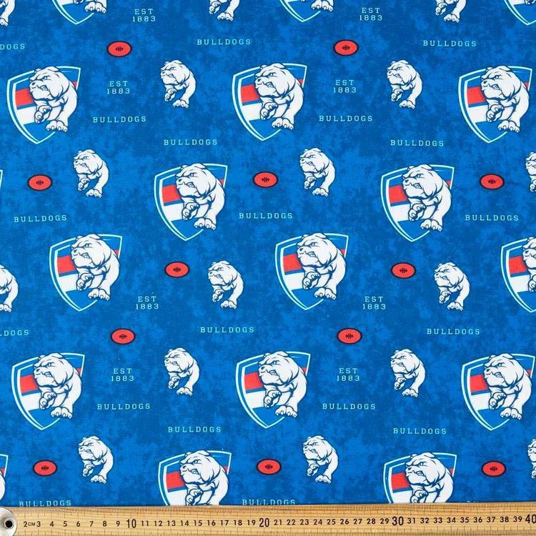 AFL Bulldogs Logo Homespun Fabric