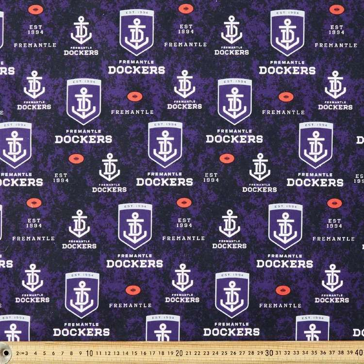AFL Fremantle Logo Homespun Fabric