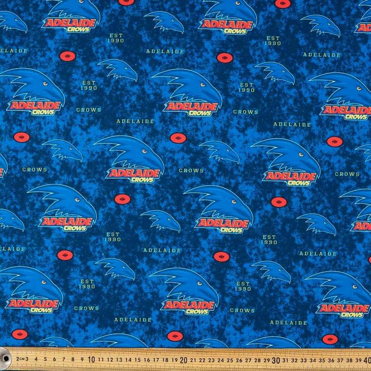 AFL Adelaide Crows Logo Homespun Fabric