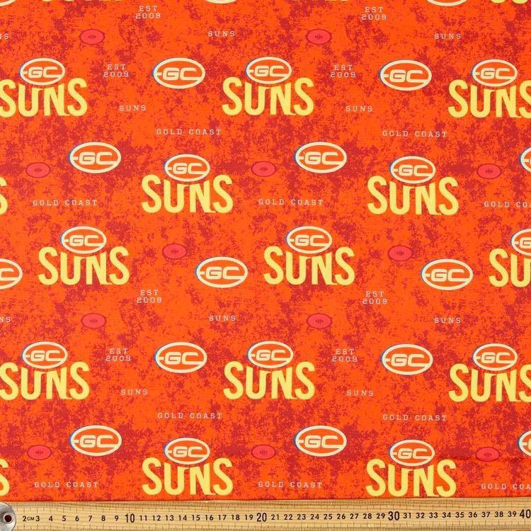 AFL Gold Coast Suns Logo Homespun Fabric
