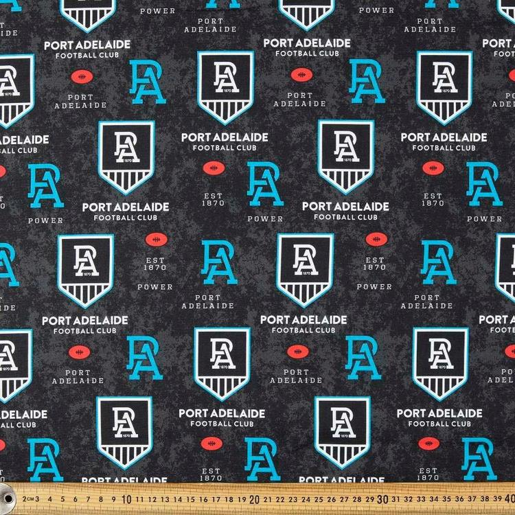AFL Port Adelaide Power Logo Homespun Fabric