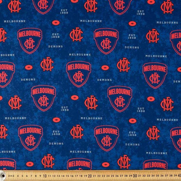 AFL Melbourne Logo Homespun Fabric
