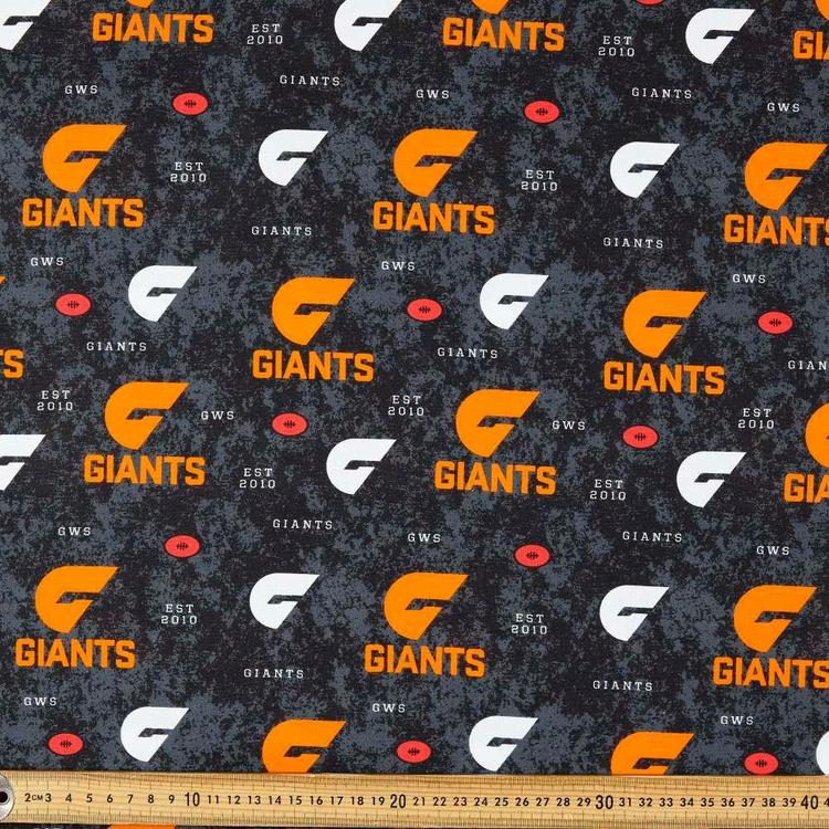 AFL GWS Giants Logo Homespun Fabric