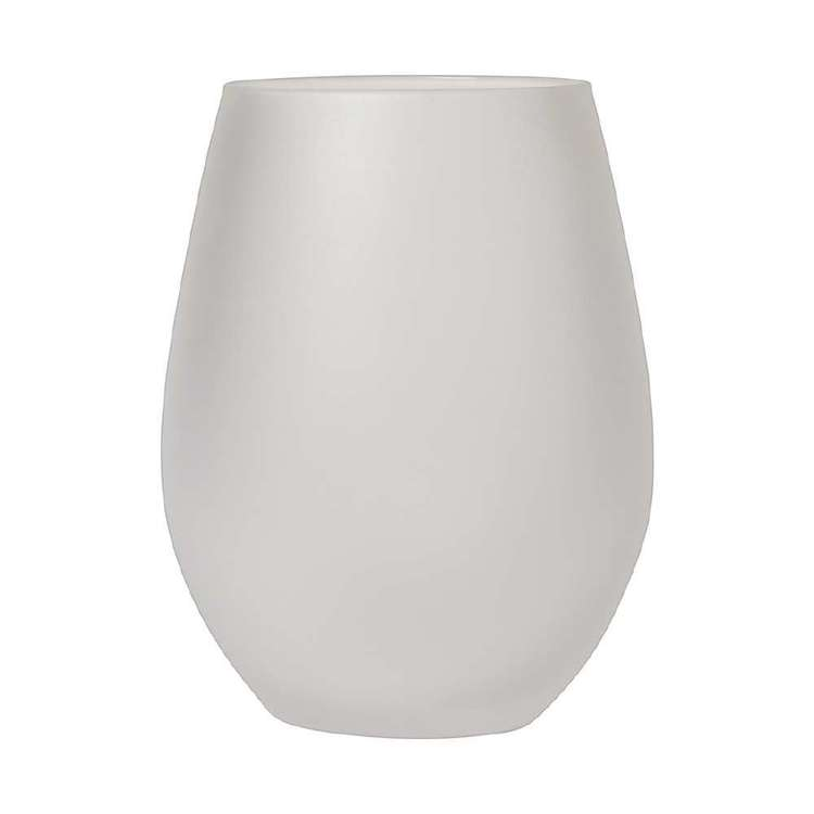 Dine By Ladelle Ziggy Frosted Glass Tumbler