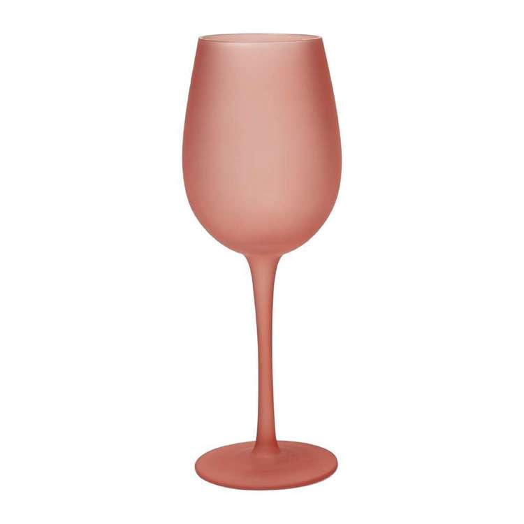 Dine By Ladelle Ziggy Frosted Wine Glass