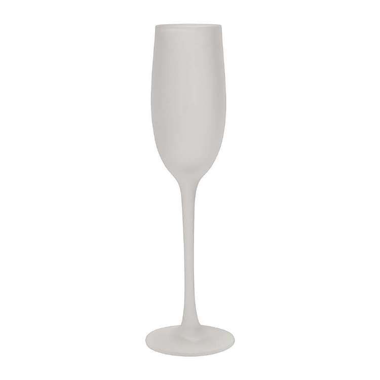 Dine By Ladelle Ziggy Frosted Champagne Glass