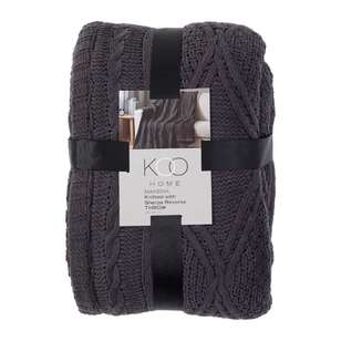 Koo Home Makena Knit Sherpa Throw