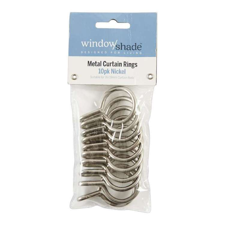 Windowshade 16/19mm Metal Rings 10 Pack