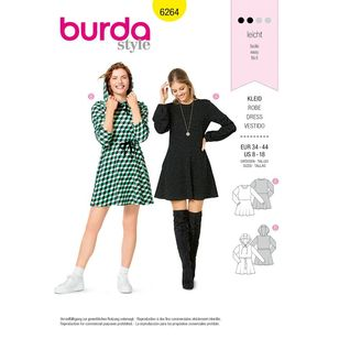 Burda Style Pattern 6264 Misses' Dresses, Pull-On Designed for Knit Fabrics