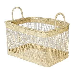 Ombre Home Weathered Coastal Square Basket