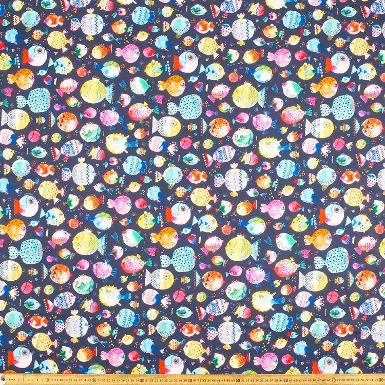 Ninola Pufferfish Cotton Fabric
