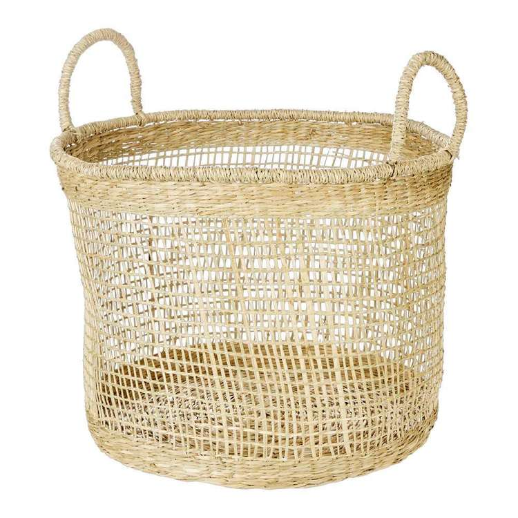 Ombre Home Weathered Coastal Round Basket