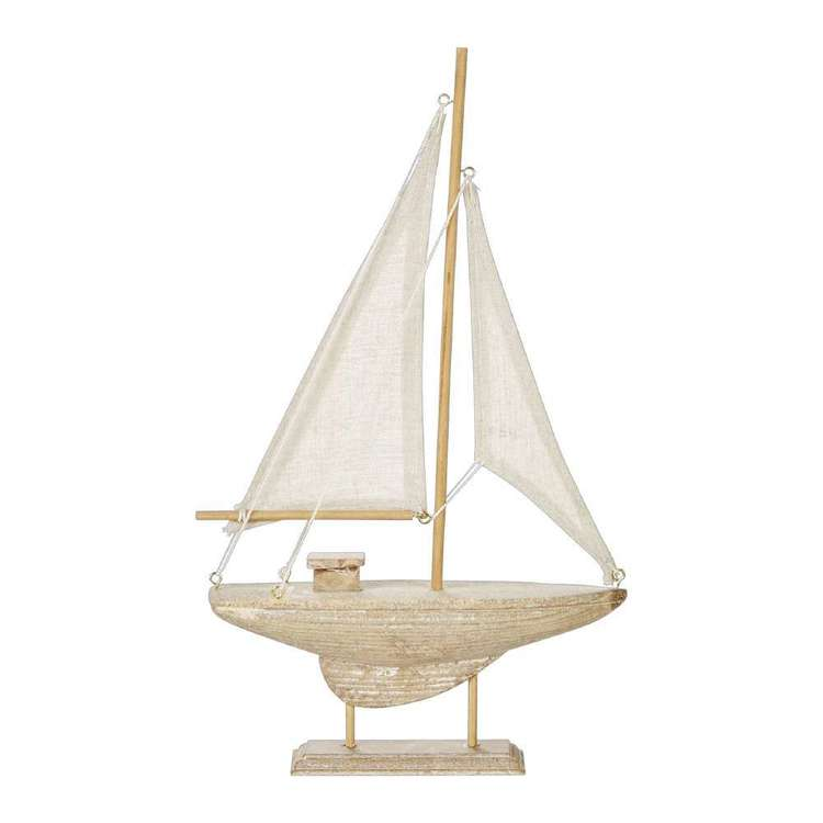 Ombre Home Weathered Coastal Decorative Boat