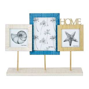 Ombre Home Weathered Coastal 3 Frame On Stand