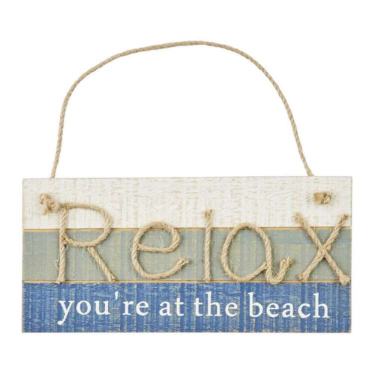 Ombre Home Weathered Coastal Relax Hanging Plaque