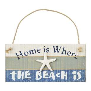 Ombre Home Weathered Coastal Beach Hanging Plaque