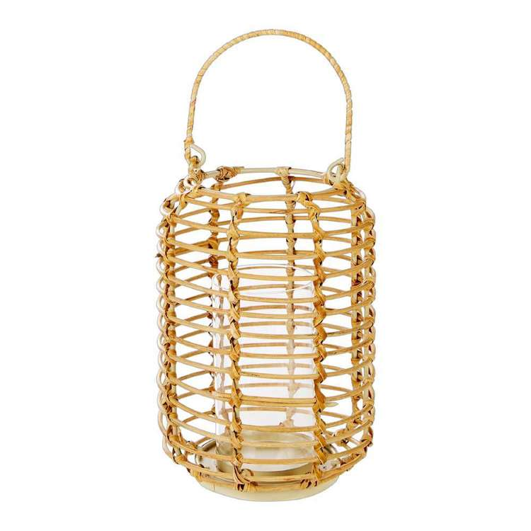 Ombre Home Weathered Coastal Rattan Candle Holder
