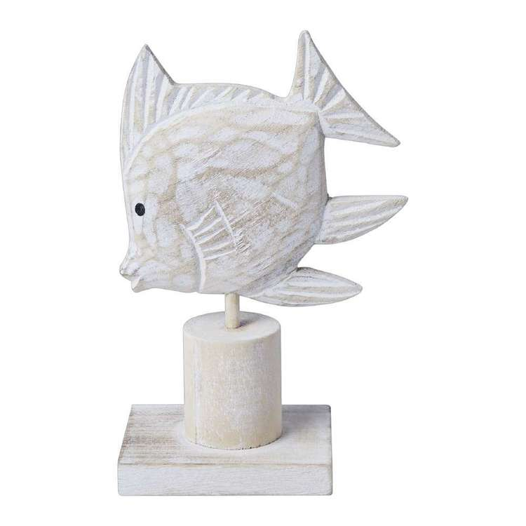 Ombre Home Weathered Coastal Decorative Fish Ornament