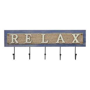 Ombre Home Weathered Coastal Relax Plaque With Hook