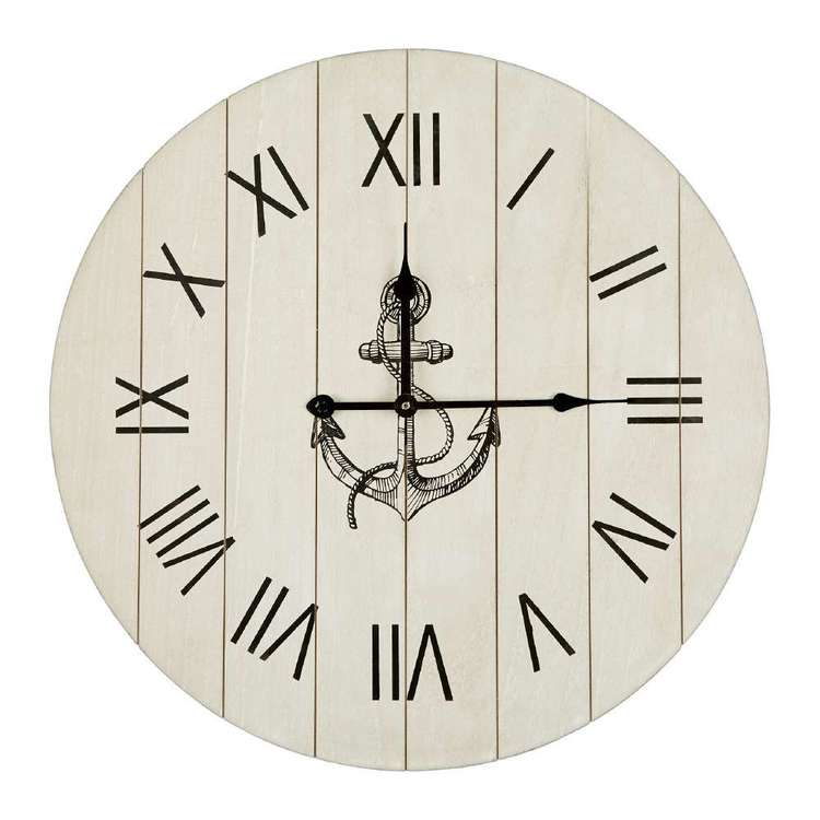 Ombre Home Weathered Coastal Anchor Clock