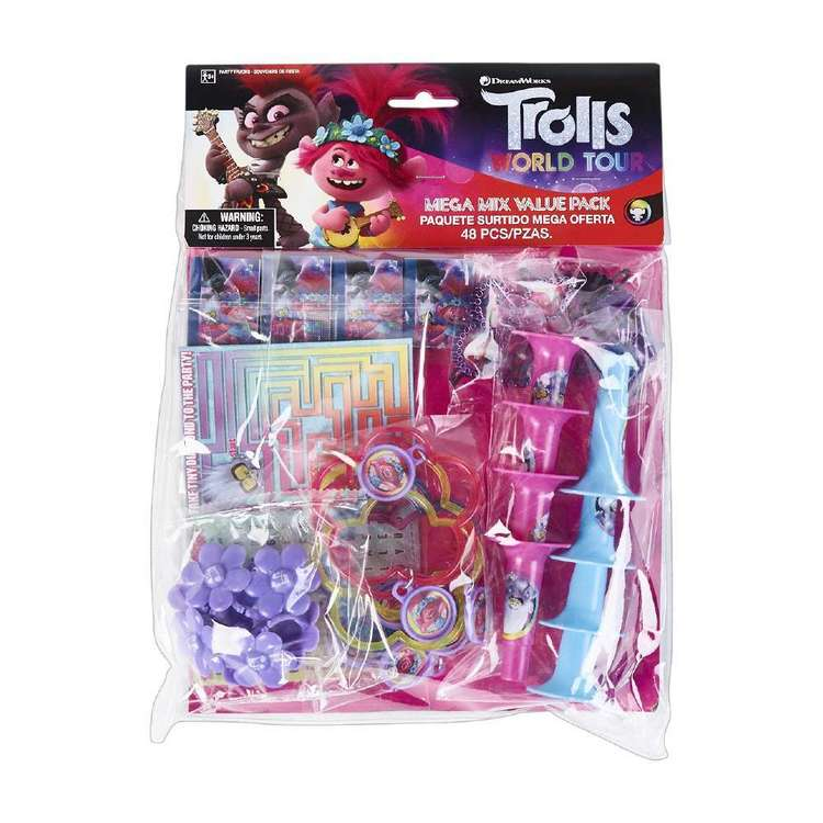 Amscan Trolls World Tour 48 Piece Mega Mix Value Pack