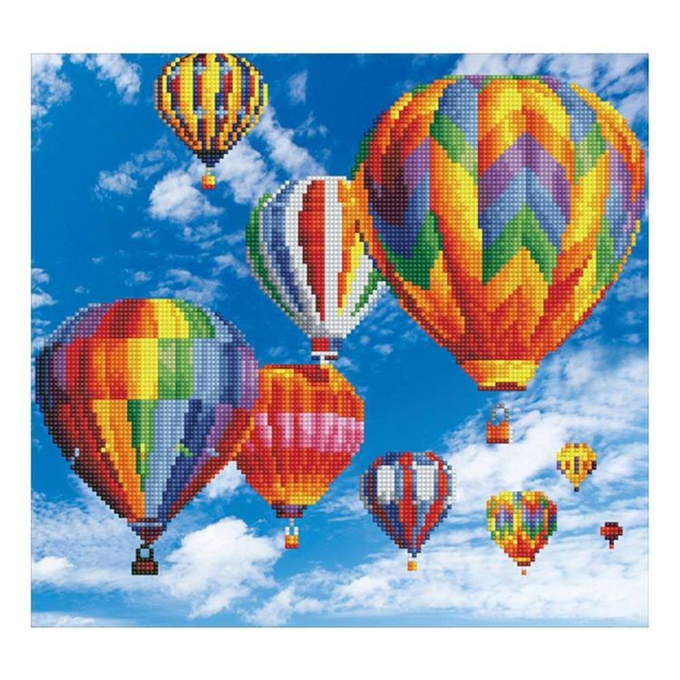 Diamond Dotz Balloons Kit Multicoloured 47 x 37 cm