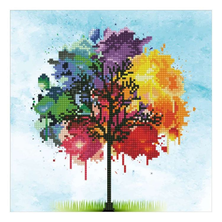 Diamond Dotz Rainbow Tree Kit