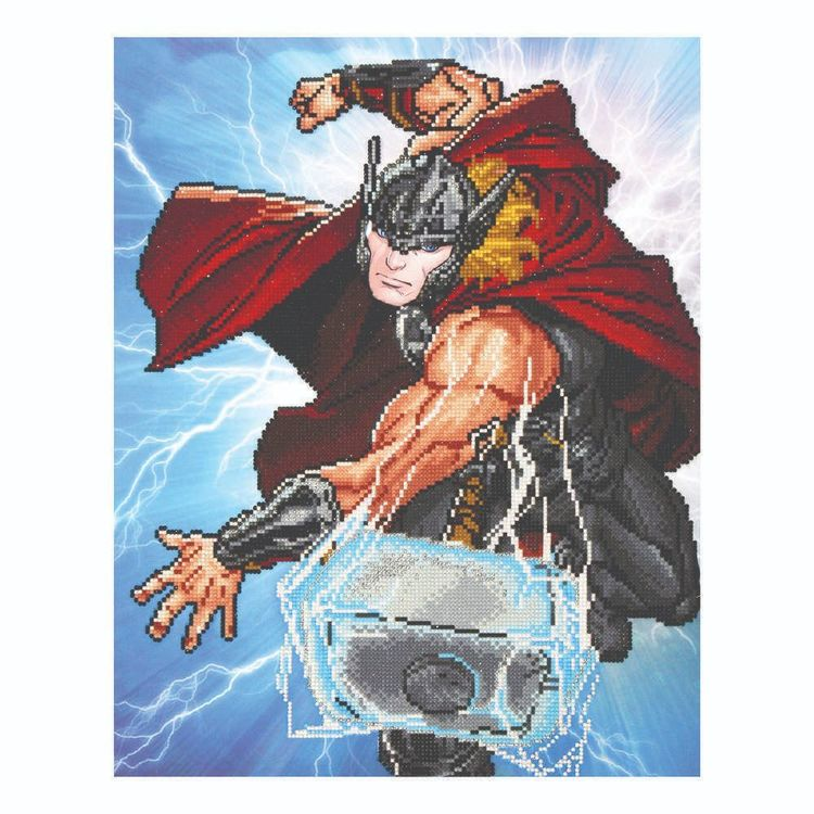Diamond Dotz Thor Strikes Kit Thor Strikes 53 x 42 cm