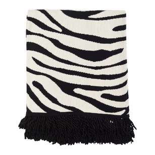 Koo Home Tamah Zebra Knit Throw