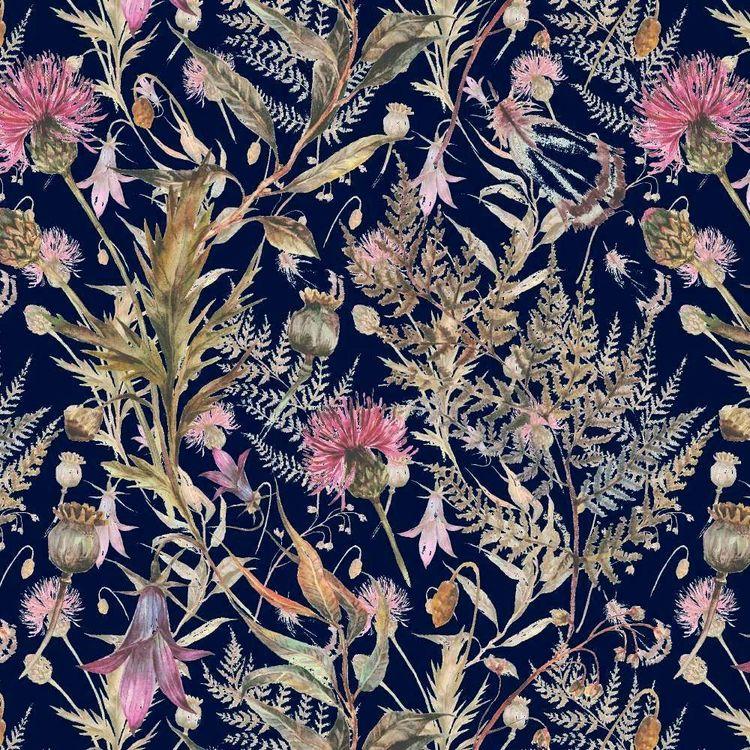 Foliage Digital Printed 112 cm Cotton Poplin Fabric