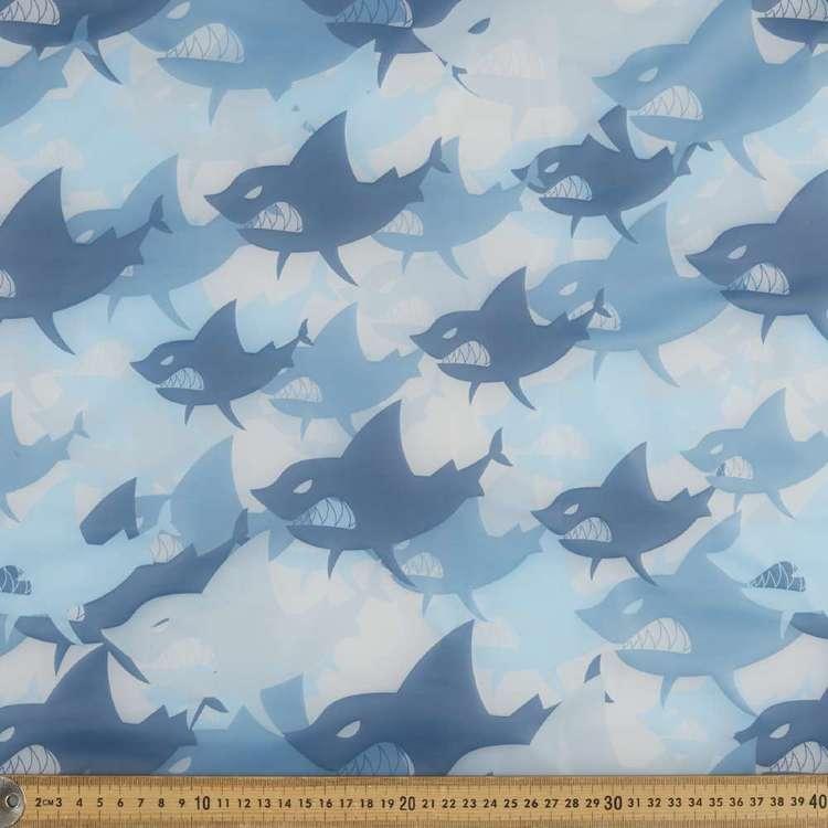 Shark Printed 140 cm Latex Fabric