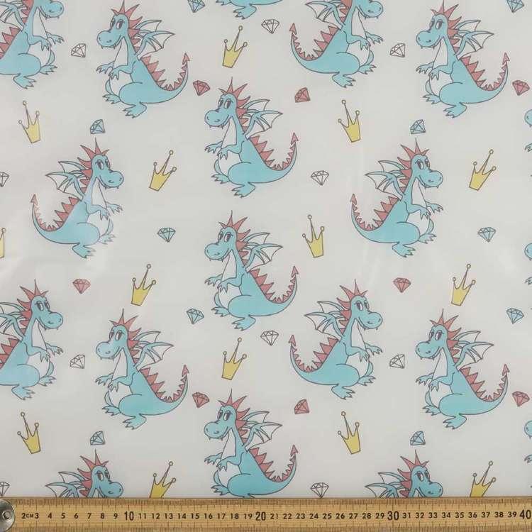 Dino Printed 140 cm Latex Fabric