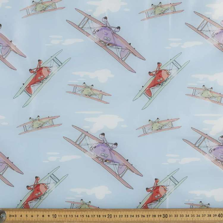 Planes Printed 140 cm Latex Fabric