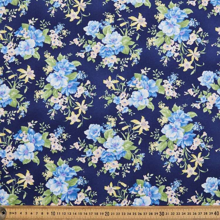 Chantilly Large Floral Cotton Fabric