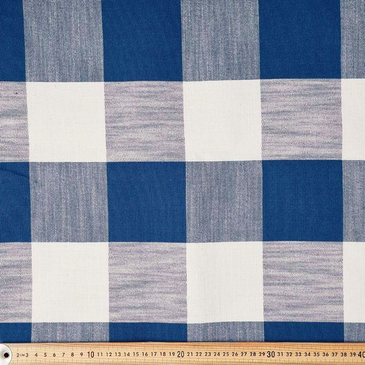 Farmhouse Upholstery Check Fabric