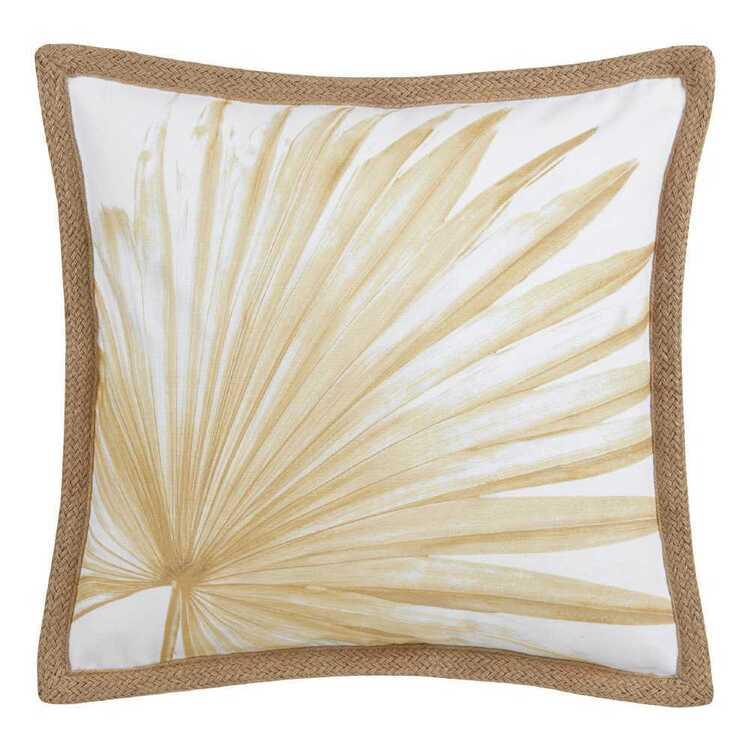Bouclair Beach Villa Palm Leaf Jute Cushion