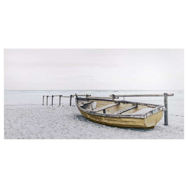 Bouclair Beach Villa Deserted Boat Wall Art