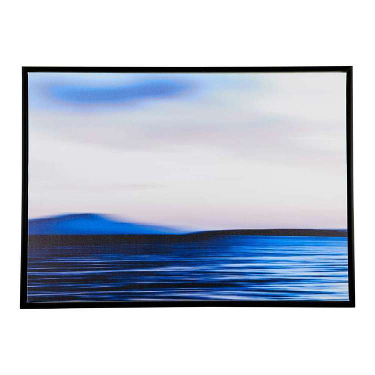 Ombre Home Weathered Coastal Water Framed Canvas Blue 50 x 70 cm