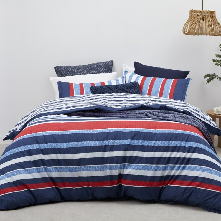 Logan & Mason Conway Quilt Cover Set Blue
