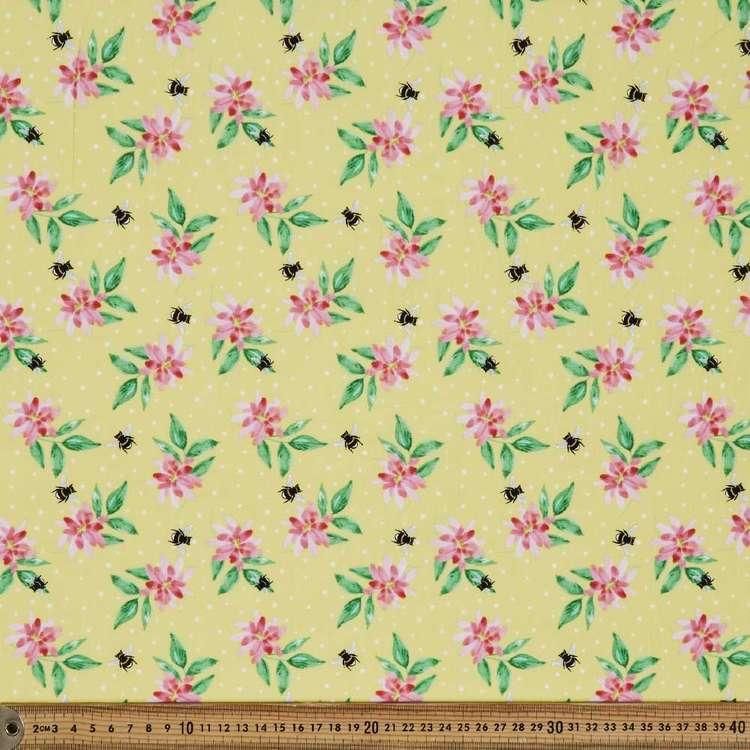 Studio E Boho Bouquet Floral & Spot Cotton Fabric