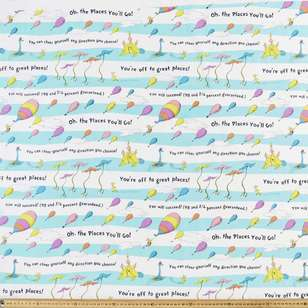 Dr. Seuss Oh The Places You'll Go Stripe Cotton Fabric