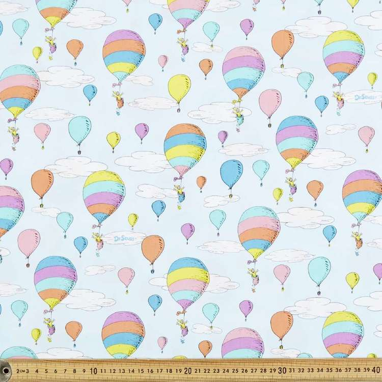 Dr. Seuss Oh The Places You'll Go Sky Cotton Fabric