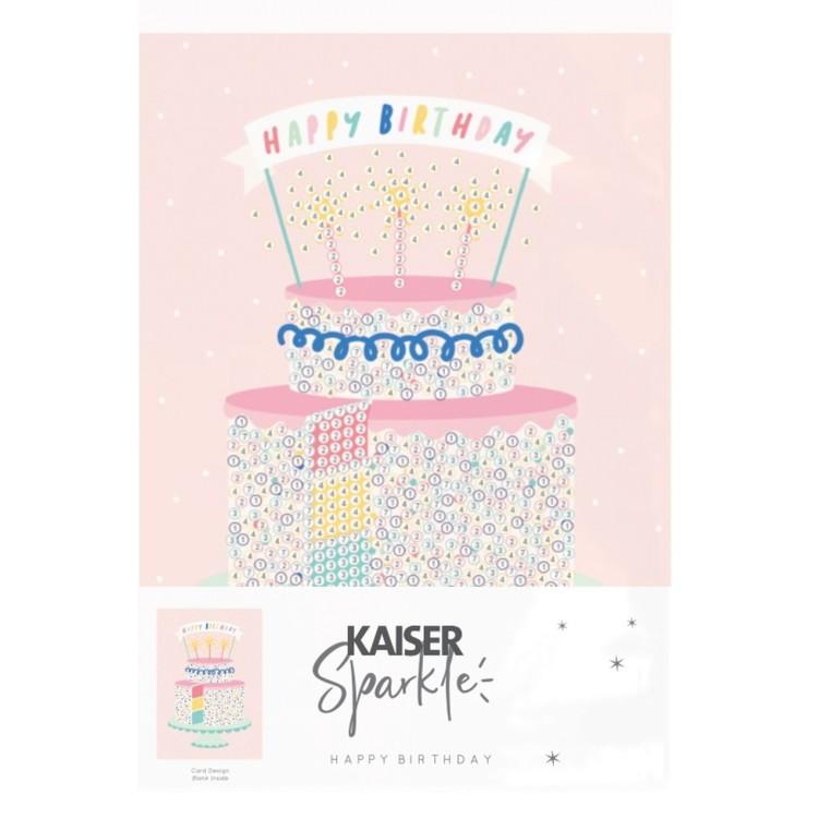 Kaisercraft Sparkle Greeting Card - Birthday - Cake