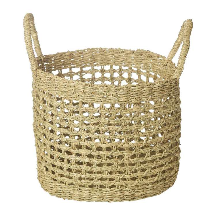 Living Space Bohemian Gypsy Oval Basket Natural