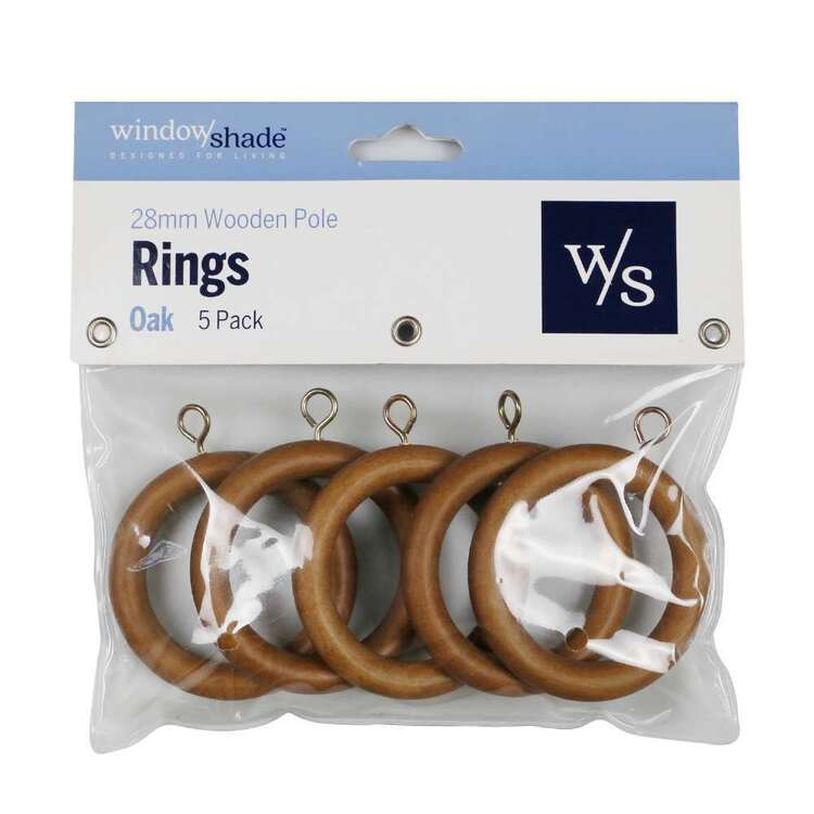 Windowshade 28mm Wooden Rings 5 Pack