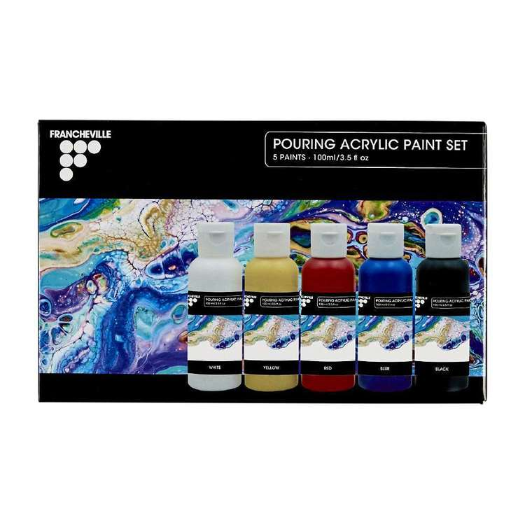 Francheville Pouring Acrylic Paint 5 Pack Multicoloured 100 mL